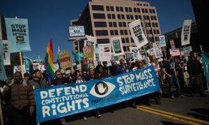 Anti-NSA rally in Washington DC